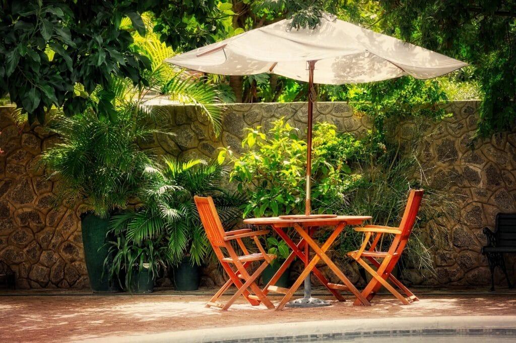 Parasol Glatz Aura : Améliorez l'ambiance extérieure avec un look élégant